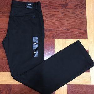 RVCA Weekend Black Chino Pants 34x34